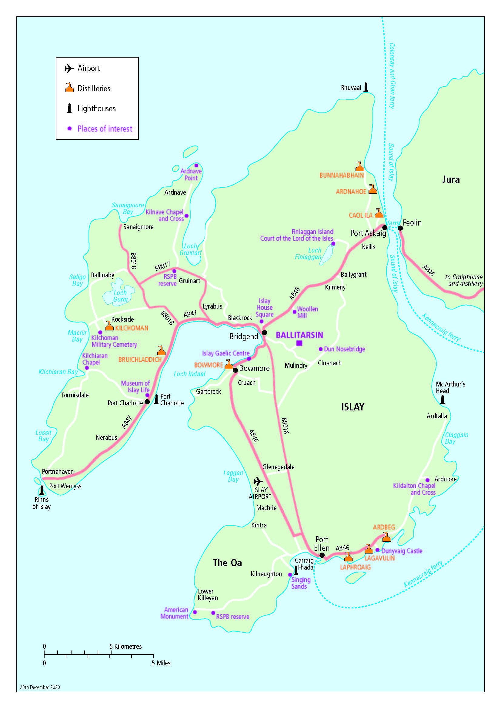 islay map 2021